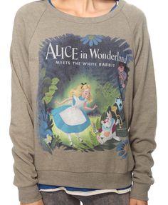 Brand New Alice In Wonderland Medium M Disney Sweater Forever 21