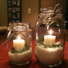 Mason jars for Christmas...