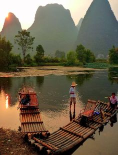 The Yulong River is a small tributary of the larger Li River in Southeastern Guangxi Zhuang Region that runs through the major city of Guilin to Yangshuo, China.