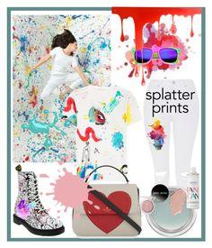 """SPLATTER PRINTS"" by beleev ❤ liked on Polyvore featuring Dr. Martens, Topshop, Marc Jacobs, Kate Spade, MAC Cosmetics, Nails Inc., Pulpo, Laura Ashley, paintsplatter and splatterprints"