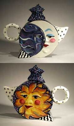 Sun/Moon teapot ~ Handcrafted by Steven McGovney and Tammy Camarot
