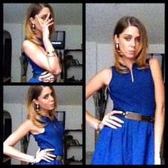 Your Outfit Today » Outfit: blue dress April 15, 2013.  Outfit : Blue dress : H Belt : Primark Accessories : H Do you also want us to post your outfits? Send your outfit pictures, with the names of the brands you wear in the picture, to info@youroutfittoday.com