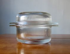 Glass casserole by Massimo & Lella Vignelli for Heller from PardonMy  Vintage #Casserole #Massimo_&_Lella