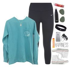 """""""my god this reminds me of when we were young"""" by lydia-hh ❤ liked on Polyvore featuring moda, NIKE, Converse, Burt's Bees, Kendra Scott, Mercedes-Benz, lululemon, S'well y Ray-Ban"""