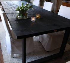 300x115cm kokoinen metallijalkainen lankkupöytä, musta vahakäsittely Shabby, Dining Table, Modern, Vintage, Furniture, Home Decor, Homemade Home Decor, Diner Table, Dinning Table Set