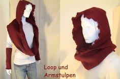 Loop mit Kapuze & Armstulpen