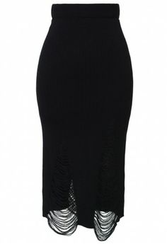 This Shredded Knit Skirt is very Raquel Allegra, at a more reasonable price! $36