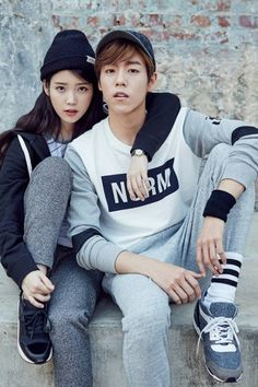 IU and Lee Hyun Woo are street fashion smart in 'Unionbay' wear | http://www.allkpop.com/article/2015/08/iu-and-lee-hyun-woo-are-street-fashion-smart-in-unionbay-wear