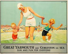 A rail poster from 1965 of Great Yarmouth and Gorleston, has just sold for £2201.00