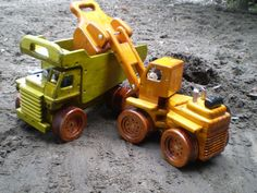 Dump Truck Wooden with Loader
