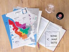 Explore cartography of the top wine producing regions in the world. Includes detailed maps of wine appellations, varietals/regional notes, and statistics. Wein Poster, Wine Folly, Fine Wine, Cartography, Wine Country, Beer, Prints, Maps, Ale