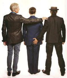 Ian McKellen, Martin Freeman and Andy Serkis