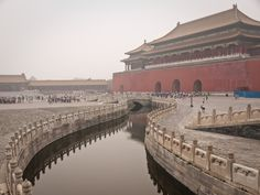 Workers likely slid massive stones, such as this 300-ton marble carving in front of the Hall of Supreme Harmony in the Forbidden City, Beiji...