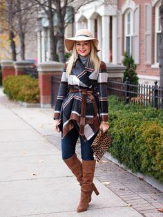 *brown & black chevron open cardi + jeans + beige suede boots // Suburban Faux-Pas: Colour Me Camel
