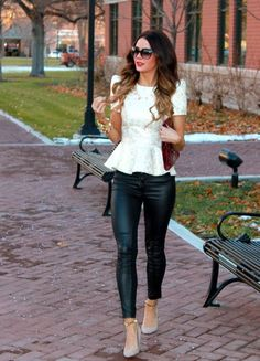 Structured Top And Leggings 2017 Street Style