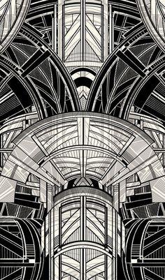 A black and gold art deco tablesetting from ralph lauren hom Motif Art Deco, Art Deco Pattern, Art Deco Design, Print Patterns, Art Nouveau, Boho Pattern, Art Deco Stil, Art Deco Art, 1920s Art Deco