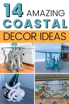 Check out these 14 unique ideas and inspiration to create calming elegant coastal home decor. Upcycling driftwood and other natural materials to create beach-themed coastal home decor. Coastal Wall Decor, Beach House Decor, Diy Home Decor Projects, Do It Yourself Home, Coastal Homes, Beach Themes, Natural Materials, Calming, Driftwood