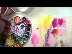 Watercolor Paint: 8 Different Pink Colours to Try & Love - YouTube