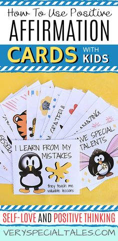 Kindness Activities, Calming Activities, Toddler Activities, Positive Affirmations For Kids, Affirmations Positives, Quotes Positive, Mindfulness For Kids, Mindfulness Activities, Thoughts For Kids
