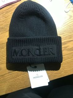 b952a67a4b1ab MONCLER Beanie black small brand new tag on  fashion  clothing  shoes   accessories