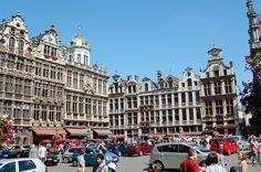 Herrenhäuser auf dem Marktplatz von Brüssel