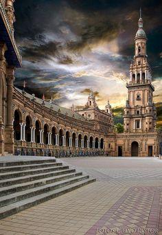 Plaza de España. Seville, Spain.