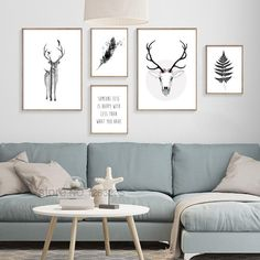 Nordic Style Poster Posters And Prints Elk Poster Wall Pictures For Living Room Letter Leaf Art Print Canvas Painting Unframed #walldecor #interiordesigner #homedecor #wallartprints #artdecor #artprint #canvasphotoprints #wallartdecor #wallpainting