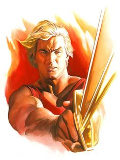 Flash, the original super action science fiction hero. Flash Gordon by Alex Ross Comic Book Artists, Comic Book Characters, Comic Books Art, Comic Art, Flash Gordon, Alex Ross, Norman Rockwell, Science Fiction, Mad Science
