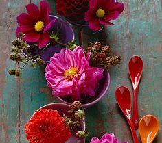 Herbstblumen als Tischdeko - Tische herbstlich dekorieren 4