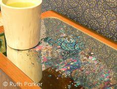 Ruth Parker Decorative Mirror with custom patina finish | The Decorating Diva, LLC