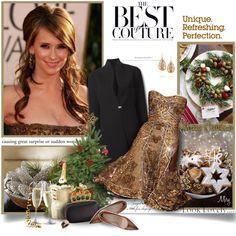 Unique Christmas by thewondersoffashion Larkspur & Hawk, Holiday Fashion, Holiday Style, Charriol, Jennifer Love Hewitt, Zuhair Murad, Christmas Outfits, Christmas Ideas, Xmas
