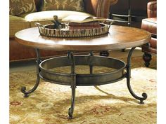 Hickory White CTH Living Room Round Cocktail Table M42-80 - Hickory Furniture Mart - Hickory, NC