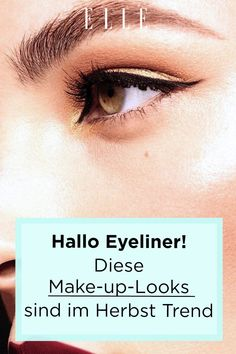 Vom Runway aufs eigene Auge: Diese Eyeliner-Looks sind im Herbst Trend und so schminkst du das Make-up richtig! #eyeliner #makeup #auge #beauty #trending #makeuptrends #ellegermany