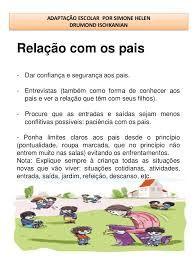 Resultado de imagem para texto de adaptação na educação infantil para os pais