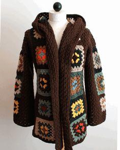 Scrap Granny Hooded Jacket Crochet Pattern