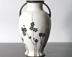 Hand Painted Vase signed Tulloch and Noritake Nippon