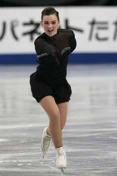 Anita Madsen of Denmark competes in the Ladies Short Program during ISU World Figure Skating Championships at Saitama Super Arena on March 27, 2014 in Saitama, Japan.