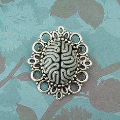Neuro Brooch-grey matter