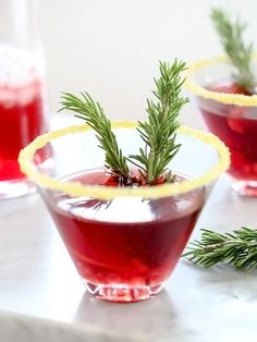 Enjoy the holidays with a festive cocktail, like this Pomegranate Martini