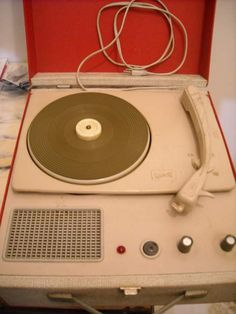 My bigger sister had one of these, until I got my own ugly orange portable one...