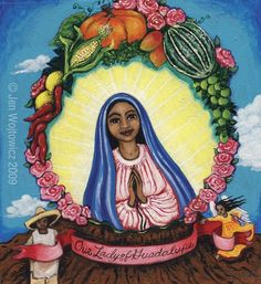 Our Lady of Guadalupe by jenwojtowicz on Etsy, $20.00