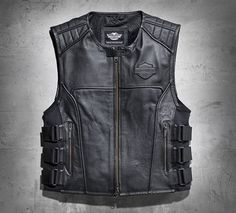 Men's Swat II Leather Vest | Leather | Official Harley-Davidson Online Store