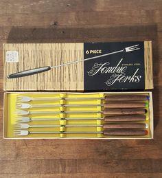 Fondue Forks 6 in Box Vintage Mid Century Modern by HailleysCloset