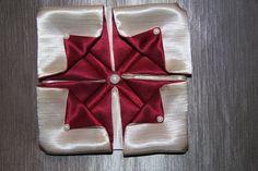 """Оригами из ткани цветок """"Гортензия"""""""