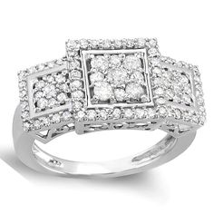 Elora 14k White Gold 1 1/4ct TDW Engagement Cocktail Round Diamond Ring (H-I, I1-I2) (Size 5), Women's