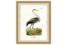 One Kings Lane - Island Living - Crane Print