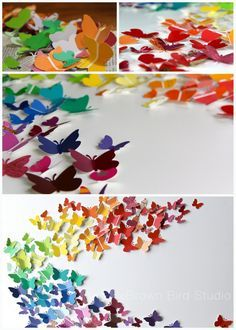 Butterfly wall art made by Maureen Shaughnessy and her young cohorts as a summer art project. Easy, fun and quick DIY.