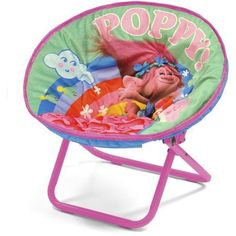 The DreamWorks Trolls Mini Saucer Chair has a colorful image of the Trolls characters displayed on the chair. Every child will love using this chair because it has their favorite character and for the comfort of the chair. This portable and collapsible chair can be used in any room of the house... more details available at https://furniture.bestselleroutlets.com/children-furniture/chairs-seats/folding-chairs/product-review-for-sturdy-fun-colorful-portable-and-collapsible-drea