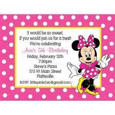 Minnie Mouse Baby Shower On Birthday Invitation