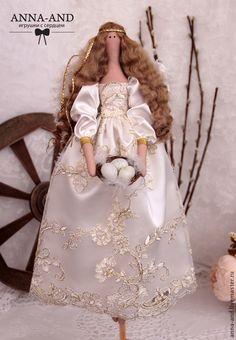 Ангелок весенне-пасхальный - золотой,ангел,Пасха,пасхальный подарок,ангелок
